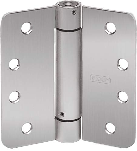 (STANLEY RD2068R 4X4 26D STL Spring Door Hinge, Satin Chrome, Steel, 4