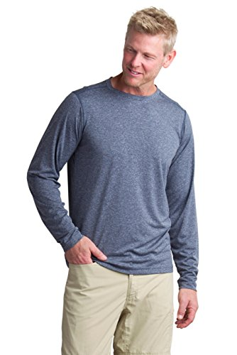 ExOfficio Men's BugsAway Tarka Long Sleeve, Navy, Medium