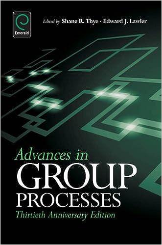 advances in group processes thye shane lawler edward