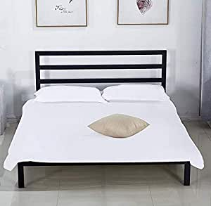 Amazon Com Dikapa Queen Size Black Platform Metal Bed