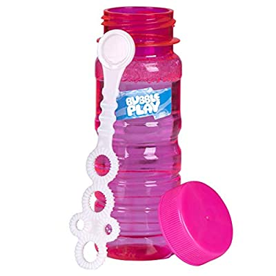 BubblePlay Bubble Blower Bottles with 5-Hole Bubble Wand: 4 OZ Bottles of Bubble Solution with Wands for Kids - Outdoor Summer Fun, Birthday Party Favors (6 Pack): Toys & Games