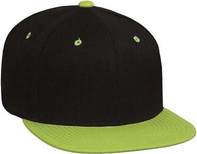 2-Tone Vintage Style Snap Back Flat Bill Adjustable Baseball Cap Hat
