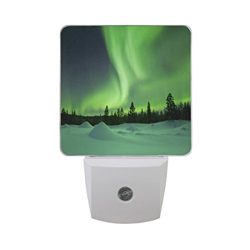 Saobao LED Night Light Energy saving Northern Lights Auto Senor Dusk to Dawn Night Light great for Bedroom bathroom living room Hallway any dark room, for child and adults For Sale