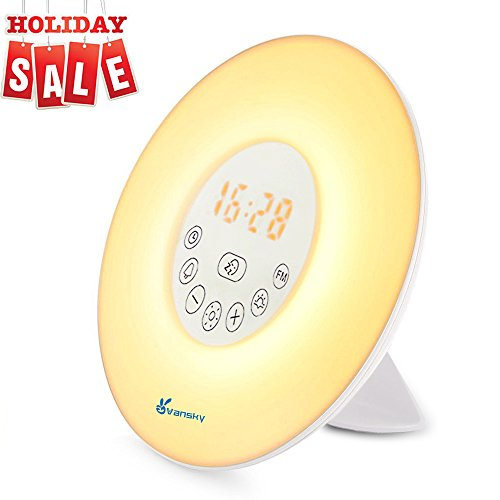 Sunrise Wake Up Light, Vansky Digital Alarm Clock