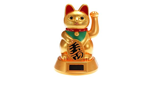 A002 Amarillo Solar Power Pluto gato Lucky Cat mecedora Juguetes ...