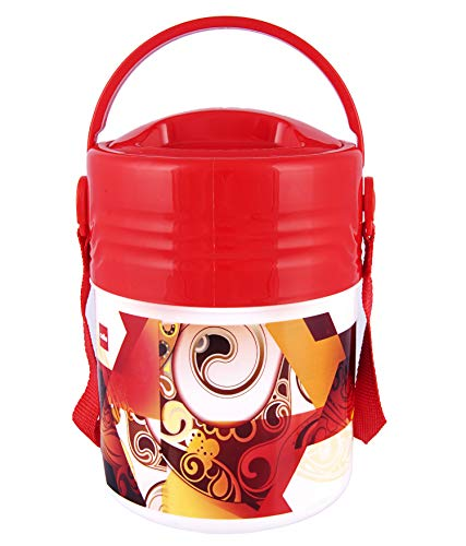 Cello Meal KIT 3 Insulated Lunch Carrier, 3 Container, RED