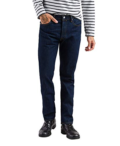 Straight Leg Corduroy Blues (Levi's Men's 501 Jean, Rinse, 34W x 34L)