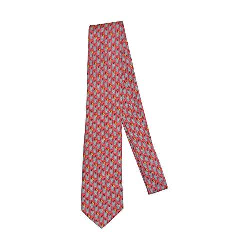 Vineyard Vines Men's Tie 100% Silk Standard Length Formal Necktie (One Size, Rum Punch/Pink)