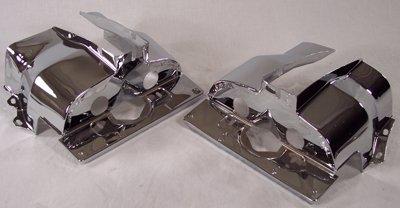 PREMIUM SINGLE PORT CYLINDER SHROUDS For Type 1 VW, Chrome Appletree Automotive