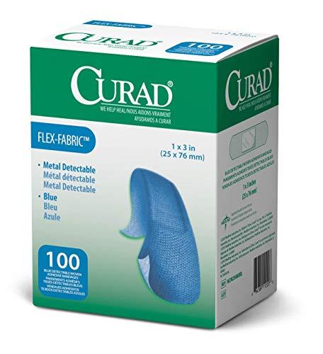 Curad Metal Detectable, Blue, Flex-Fabric, 1