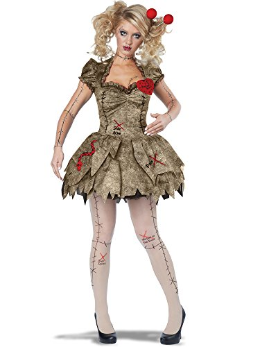 (California Costumes Women's Voodoo Dolly Costume, Tan)