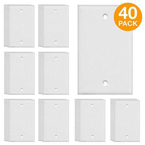 ENERLITES Blank Device Wall Plate, Size 1-Gang 4.50