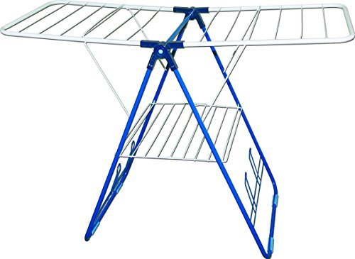 Strata CS78203 Gullwing Clothes Drying Rack, White and Blue,