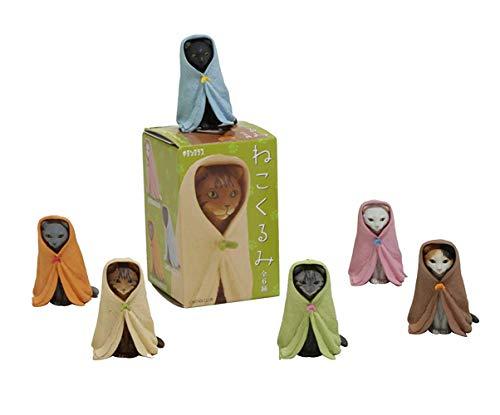 Kitan Club Nekokurumi Cat in Blanket Plastic Toy - Blind Box Includes 1 of 6 Collectable Figurines - Fun, Versatile Decoration - Authentic Japanese Design - Made from Durable Plastic