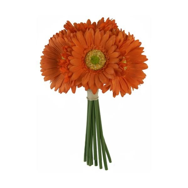 Tangerine Orange Daisy Bouquet – Bridal Wedding Bouquet
