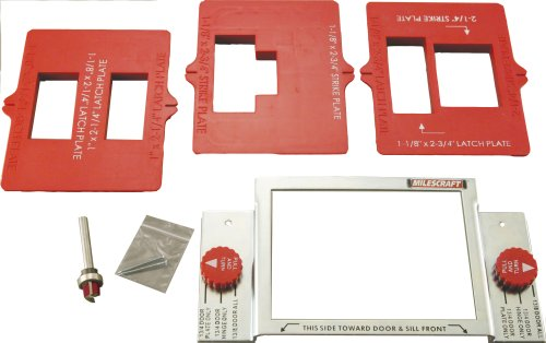Milescraft 1215 Strike Door Plate Mortising Kit - Strike Plate Jig ...