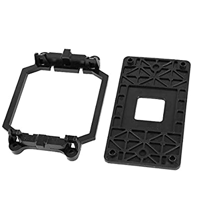 uxcell AMD Plastic CPU Fan Stand Bracket Base Black w Four Screws for AM2 AM3 Socket