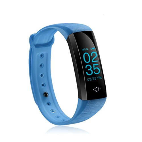 "HP95 M2P Fitness Tracker with Blood Pressure Blood Oxygen Heart Rate Sleep Monitor,Waterproof IP67 Colorful UI 0.96""OLED Smart Watch-Standby Time 7 Days (Blue) by HP95 (Image #1)"