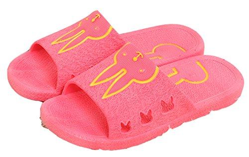Blubi Vrouwen Schattige Konijn Open Teen Comfort Douche En Zwembad Sandaal Strand Sandaal (6.5, Watermeloen Rood)