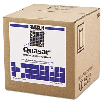 Quasar Floor Finish - Franklin Cleaning Technology F136025 Quasar High Solids Floor Finish, 5gal Box
