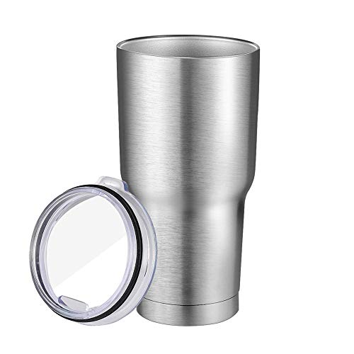 Speedpure Tumbler [30 oz. Double Wall Stainless Steel Vacuum Insulation] Travel Mug [Crystal Clear Lid] Water Coffee Cup For Home, Office, School, Car Trip, First Choice Gift for Everyone