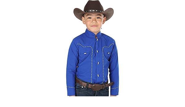 Amazon.com: Camisa Vaquera Charra M/Larga El General 65% Polyester 35% Algodón ID 40355 CW15G Azul Cobalto: Clothing