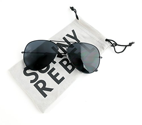 Aviator Sunglasses by Sunny Rebel (Black | - Sunnies Sunglasses