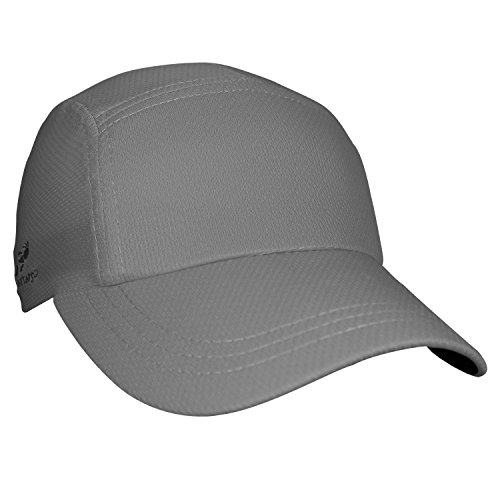 Headsweats Performance Race/Running/Outdoor Sports Hat, Grey