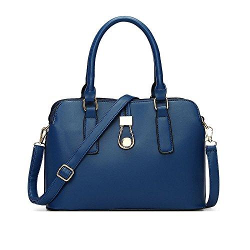 Selvaggio A Borsa Blu Moda Donne Casual Delle Tracolla Scuro pI17w