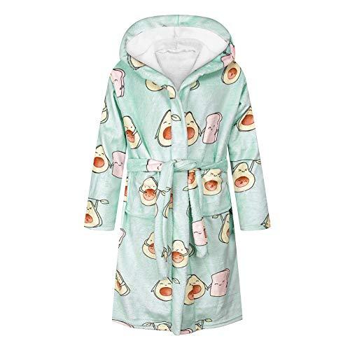 JinBei Badjas Kinderkamerjas Superzachte Nachtkleding met Capuchon Voor Jongens Meisjes, Kinder Badjas Unisex Fleece…