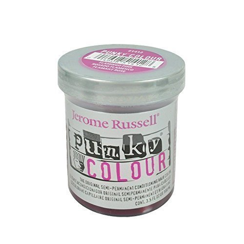 Jerome Russell Punky Hair Color Creme, Flamingo Pink, 3.5 Ounce by jerome russell [Beauty]