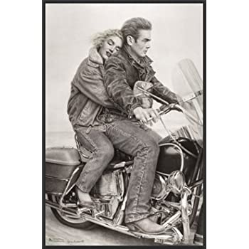amazoncom james dean amp marilyn monroe motorcycle movie