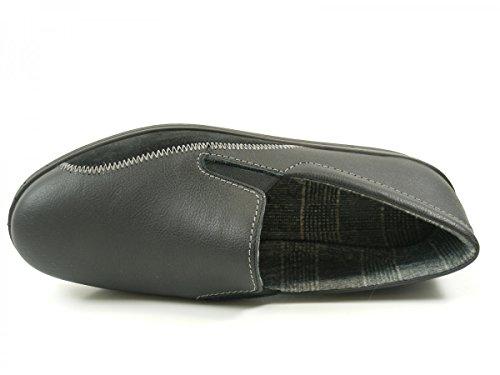 Pantofole Da Uomo In Pelle Nera