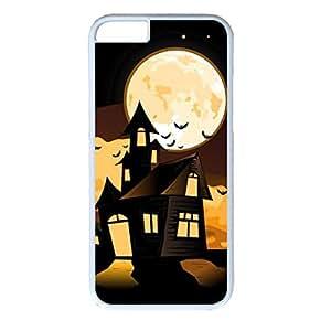 Black Cat Design PC White Case for Iphone 6 Big Boo's Haunt