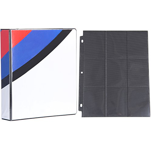 (Pokemon 3-Ring Binder with 25 Black 9-Pocket Side Loading Pages for Pokemon Cards (Great Ball))