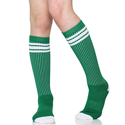 Baby, Toddler & Kids Knee High Tube Socks For Boys & Girls With Grips (2-4 Years (Shoe Size 6C-9C), -