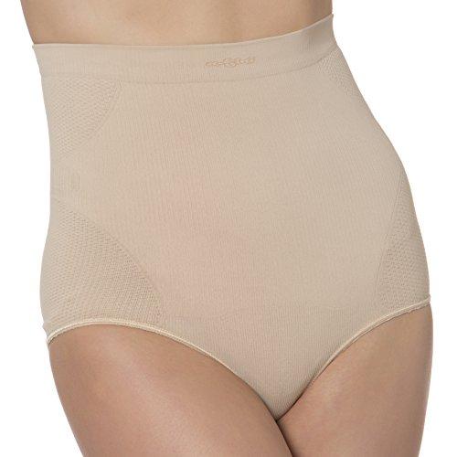 N-Fini Women's Plus Lycra High Waisted Brief Full Bottom Shapewear Panty Nude 3X/4X