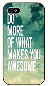 """iPhone 6 (4.7"""") Do more of what makes you awesome - Sky and clouds - black plastic case / Life, dreamer's inspirational and motivational quotes"""