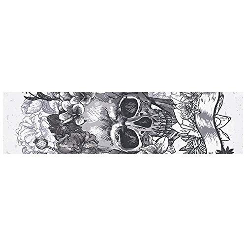 Runcircle スケートボード デッキテープ グリップテープ サンドペーパー 研磨紙 ステッカー テープ スケボー DIY PVC おしゃれ パターン 粒立ち 荒いダイヤモンド シューズ食付き スケートボード スケボー スケートボード用アクセサリー