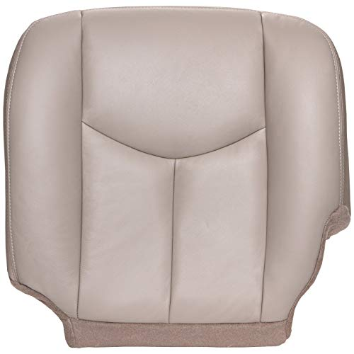 The Seat Shop Driver Bottom Replacement Seat Cover - Shale (Tan) Leather (Compatible with 2003-2006 Chevrolet Tahoe, Suburban, and GMC Yukon, Yukon XL) ()