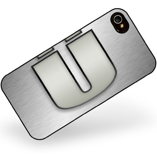 iphone 4 4s Ü characters, letter apple gray - Neonblond