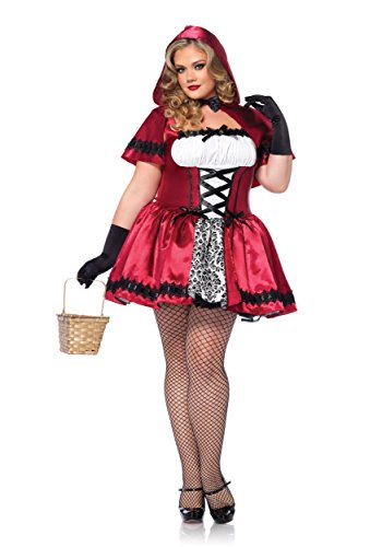 Leg Avenue Gothic Red Riding Hood Plus Size Costume - (Leg Avenue Lace Corset)