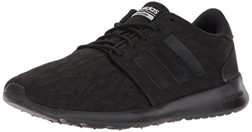 Sneakers Lightweight Adidas (adidas Women's CF QT Racer W Sneaker, Core Black, Core Black,White, 8 M US)