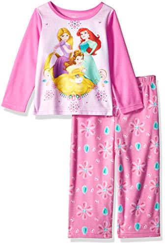 (Disney Baby Girls Multi-Princess 2-Piece Fleece Pajama Set, Personally Pink, 18M)