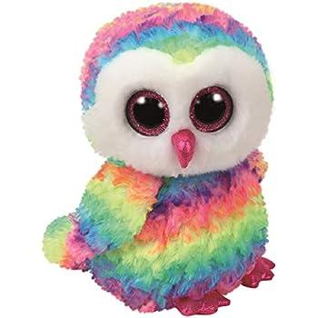 Amazon.com  Ty Beanie Boos OWEN The Multicolor Owl Medium  Toys   Games 828e66bd62b0