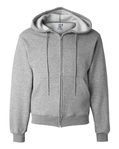 - Fruit of the Loom 12 oz. Supercotton 70/30 Full-Zip Hood (82230)- ATHLETIC HEATHER,L