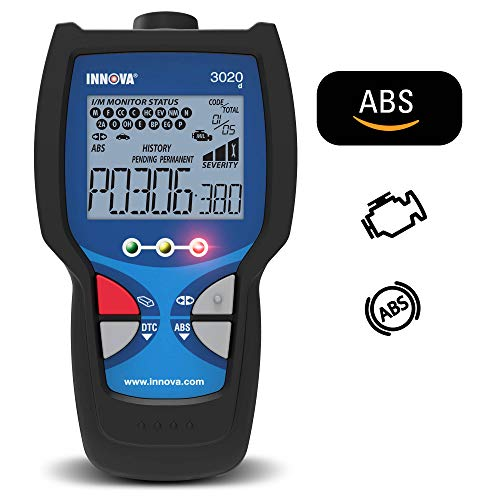 Innova 3020d Check Engine Code Reader w/ ABS (Brakes), DTC Severity, Emissions Diagnostics, and Easy to Use HotKeys for OBD2 (OBD II) Vehicles ()