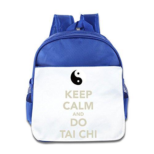 Hello-Robott Keep Calm And Do Tai Chi School Bag Backpack RoyalBlue