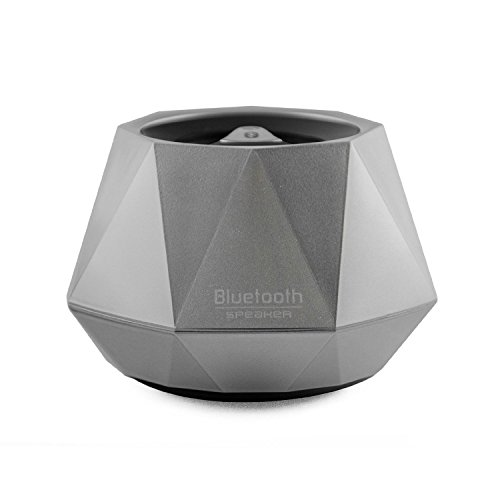 Opteka Portable Wireless Bluetooth Speaker with Built-In Speakerphone & 4 Hour Rechargeable Battery (Silver)