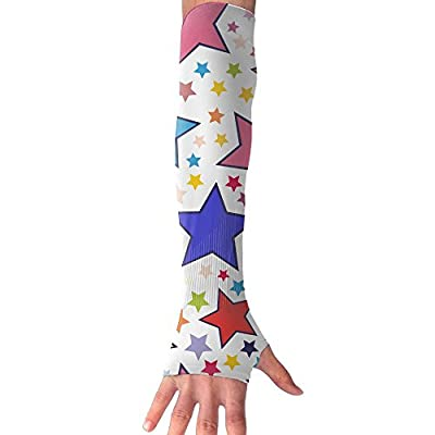 Patriotic Stars Women's Super Long Fingerless UV Protection Cooling Arm Sleeves Compression Sun Sleeves